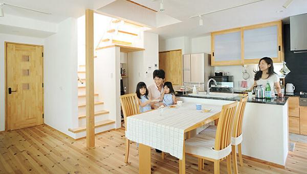 建材は自然素材にこだわった無添加住宅のものを使用