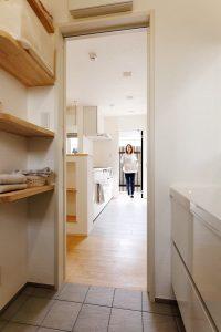 家事動線 キッチン 洗面室 脱衣室