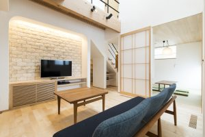 加古川 モデルハウス 自然素材 リビング