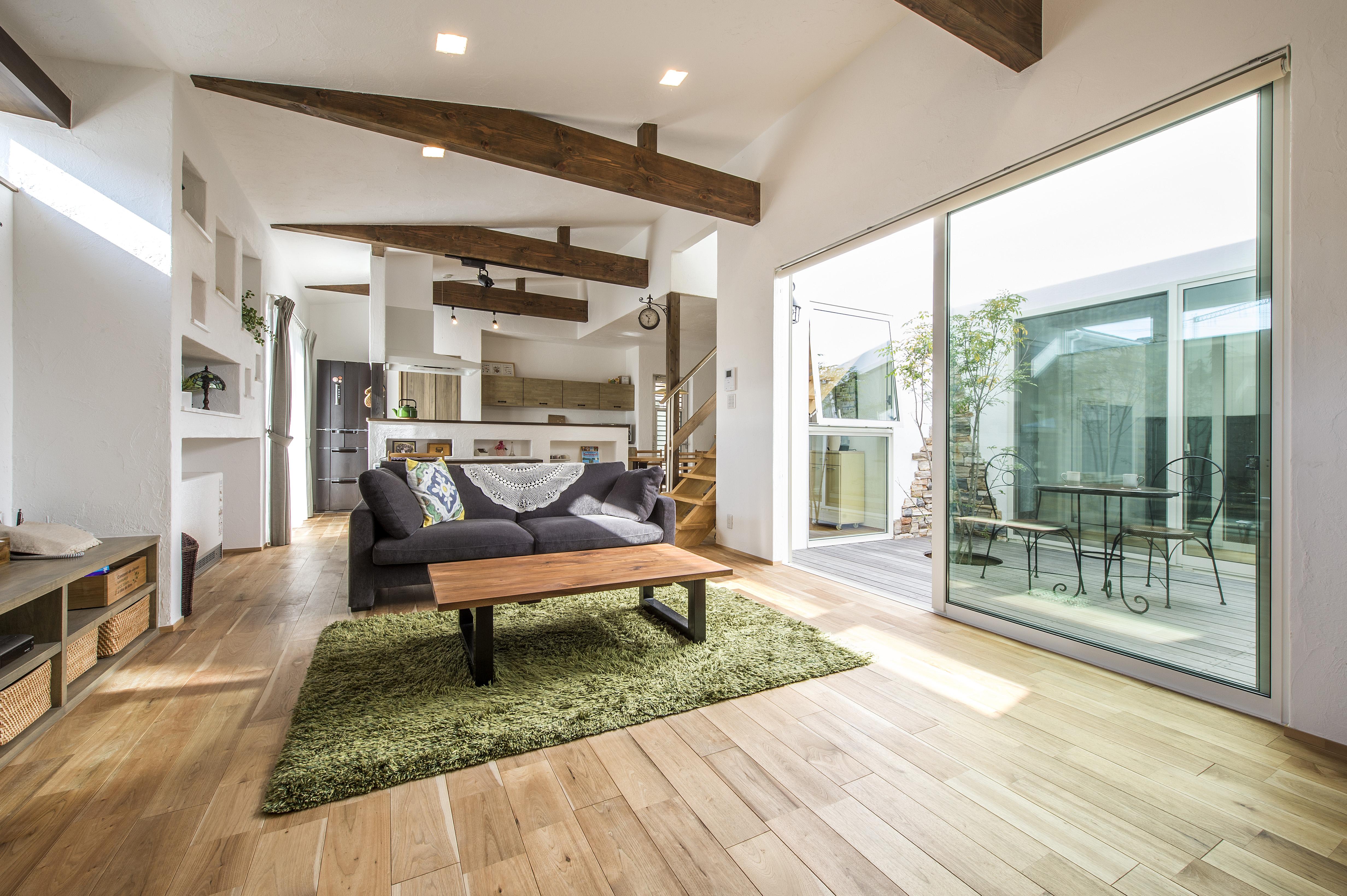 自然素材 無添加 住宅 リビング