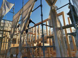 上棟 平屋 木造