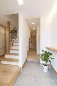加古川 モデルハウス 漆喰 無垢床