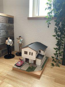 注文住宅 模型 三角屋根 無添加住宅