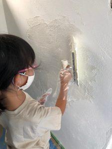 しっくいの家 しっくい塗り しっくい塗り体験