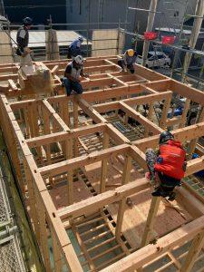 上棟 木造 2階建て